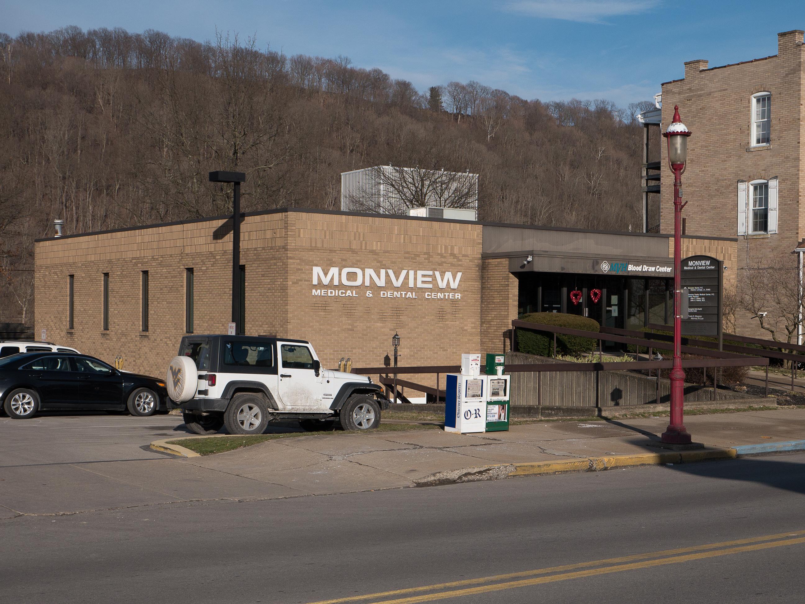 Photo of building at 447 West Main Street, Monongahela, Pa. 15063 along rt 88 and rt 136. Photo property of the Monongahela Main Street Program.