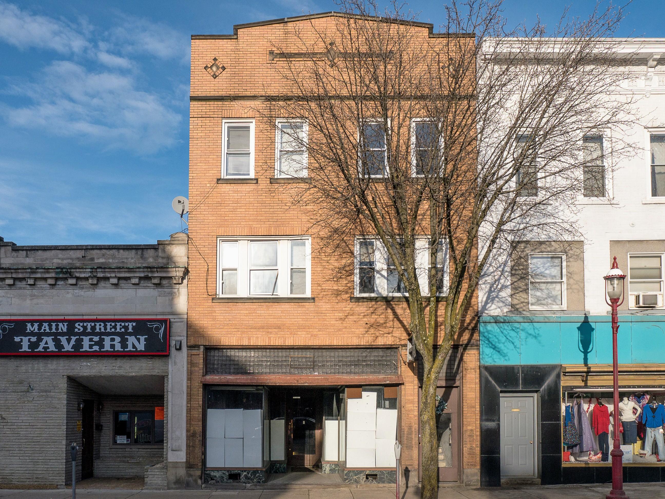 Photo of building at 221 West Main Street, Monongahela, Pa. 15063 along rt 88 and rt 136. Photo property of the Monongahela Main Street Program.