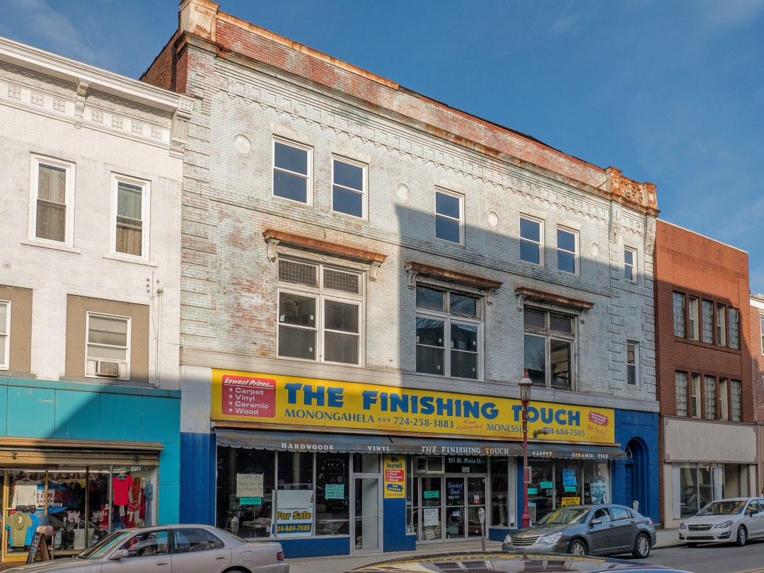 Photo of building at 211 West Main Street, Monongahela, Pa. 15063 along rt 88 and rt 136. Photo property of the Monongahela Main Street Program.