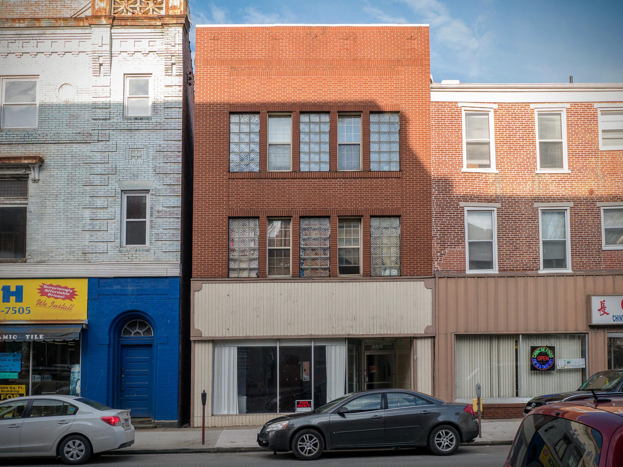 Photo of building at 205 West Main Street, Monongahela, Pa. 15063 along rt 88 and rt 136. Photo property of the Monongahela Main Street Program.