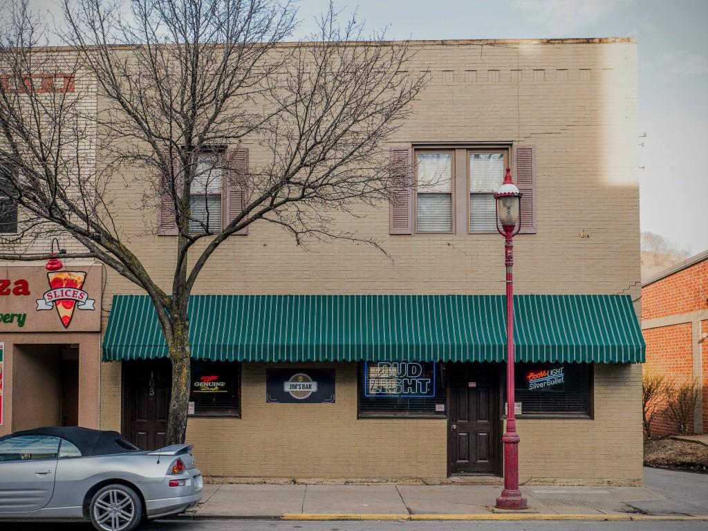 Photo of building at 163 West Main Street, Monongahela, Pa. 15063 along rt 88 and rt 136. Photo property of the Monongahela Main Street Program.