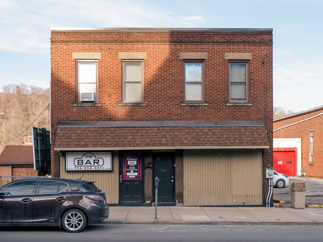 Photo of building at 131 West Main Street, Monongahela, Pa. 15063 along rt 88 and rt 136. Photo property of the Monongahela Main Street Program.
