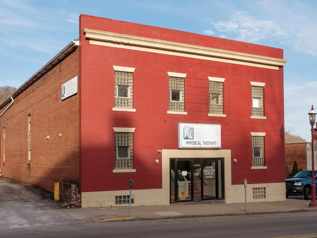 Photo of building at 121 West Main Street, Monongahela, Pa. 15063 along rt 88 and rt 136. Photo property of the Monongahela Main Street Program.