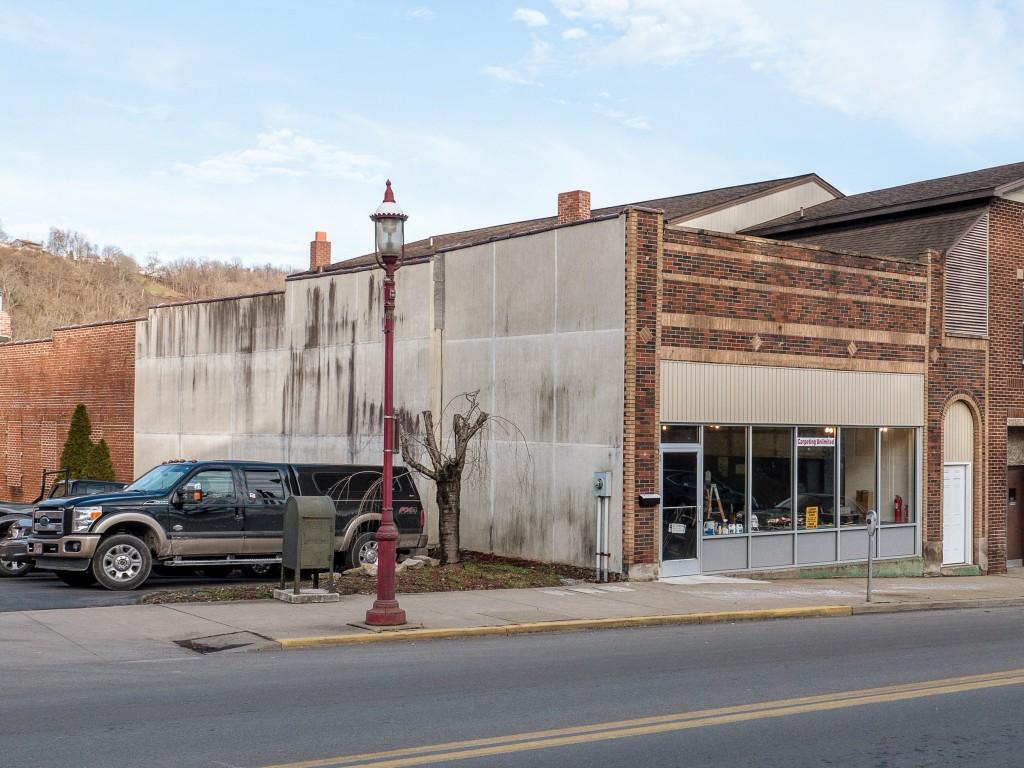 Photo of building at 105 West Main Street, Monongahela, Pa. 15063 along rt 88 and rt 136. Photo property of the Monongahela Main Street Program.