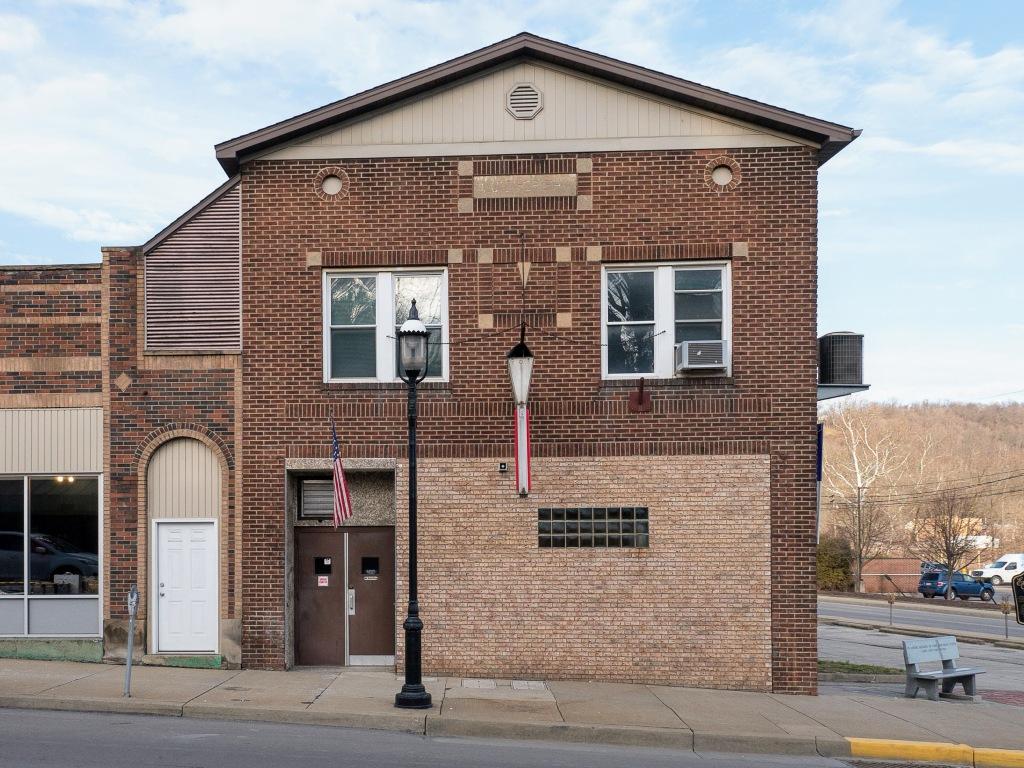 Photo of building at 101 West Main Street, Monongahela, Pa. 15063 along rt 88 and rt 136. Photo property of the Monongahela Main Street Program.