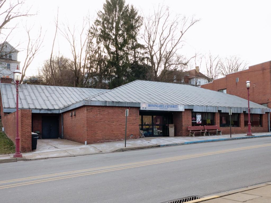 Photo of building at 102 West Main Street, Monongahela, Pa. 15063 along rt 88 and rt 136. Photo property of the Monongahela Main Street Program.