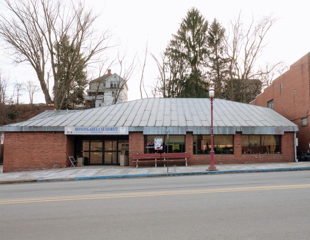 Photo of building at 102West Main Street, Monongahela, Pa. 15063 along rt 88 and rt 136. Photo property of the Monongahela Main Street Program.