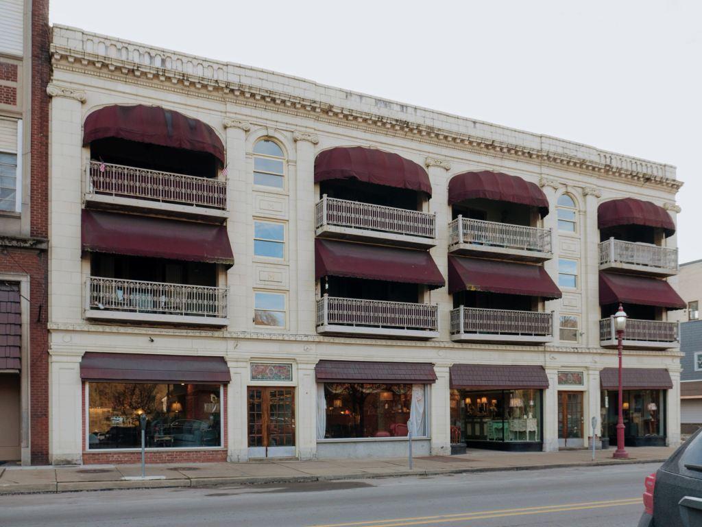 Photo of building at 142 West Main Street, Monongahela, Pa. 15063 along rt 88 and rt 136. Photo property of the Monongahela Main Street Program.