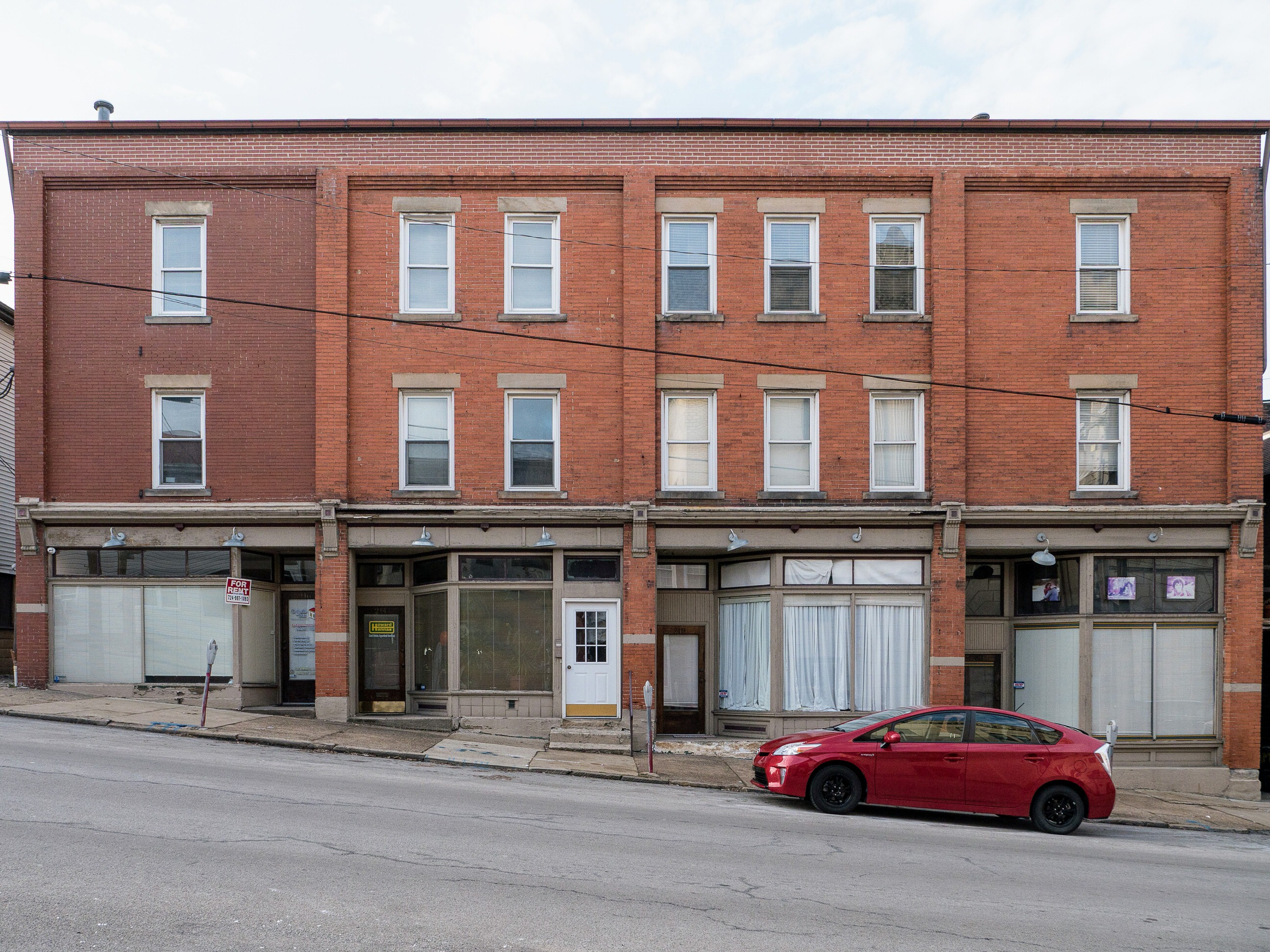 Photo of building at 206 - 212 Second Street, Monongahela, Pa. 15063 along rt 88 and rt 136. Photo property of the Monongahela Main Street Program.