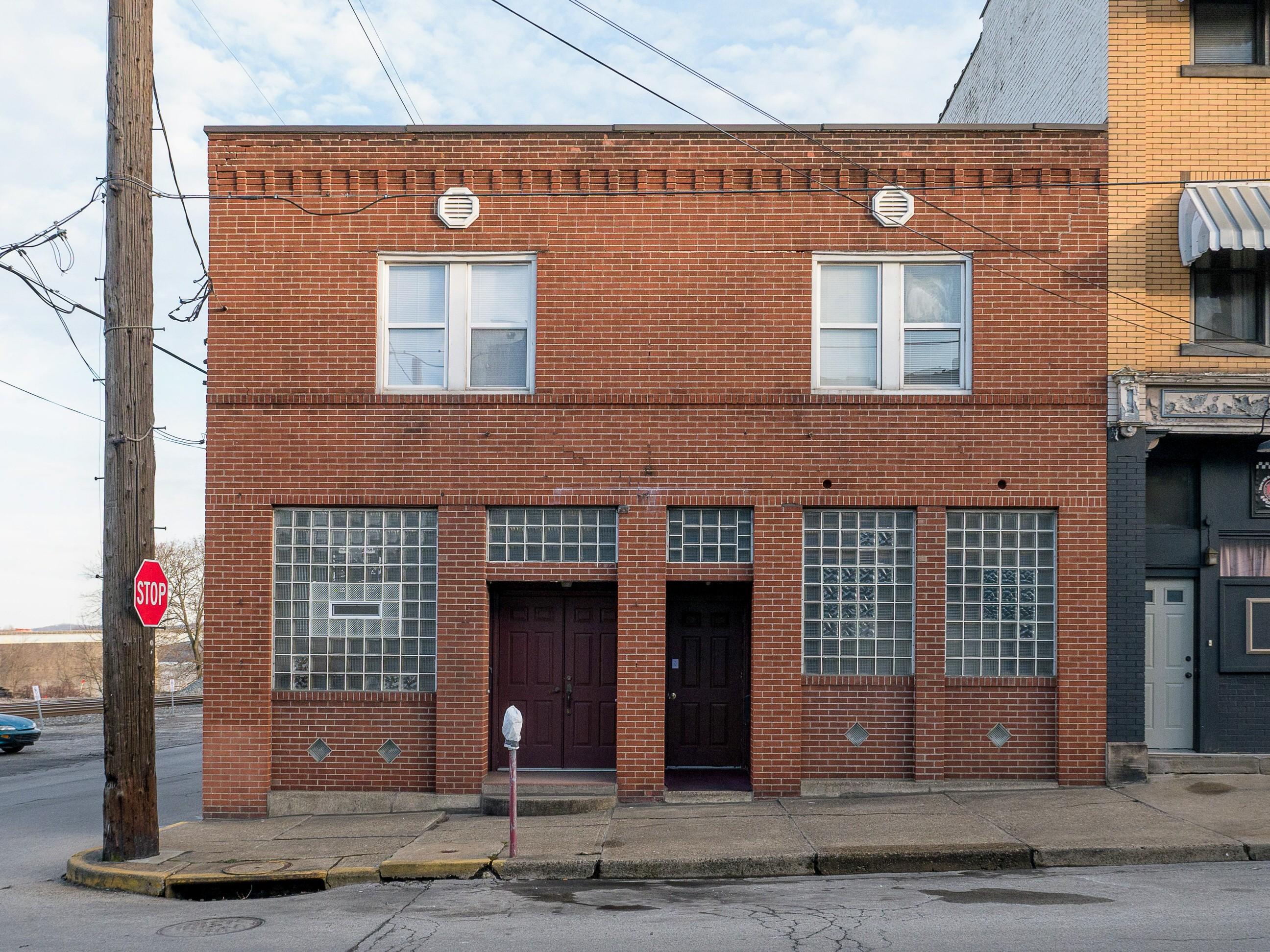Photo of building at 101 Second Street, Monongahela, Pa. 15063 along rt 88 and rt 136. Photo property of the Monongahela Main Street Program.
