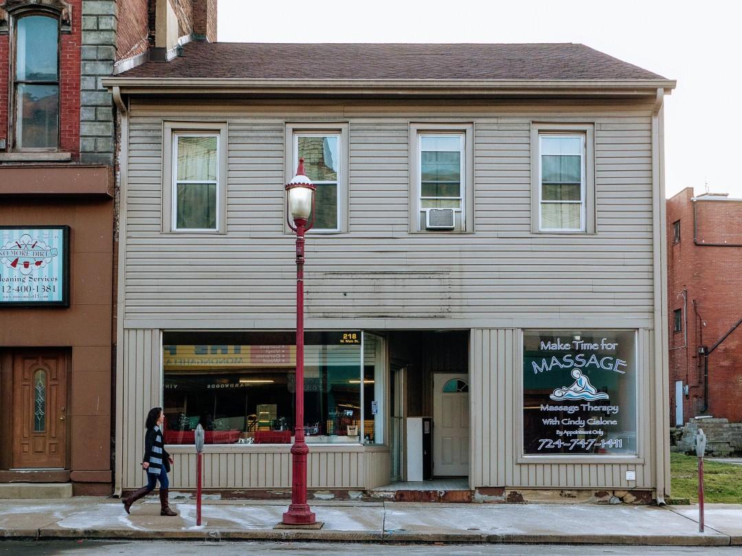 Photo of building at 216 West Main Street, Monongahela, Pa. 15063 along rt 88 and rt 136. Photo property of the Monongahela Main Street Program.