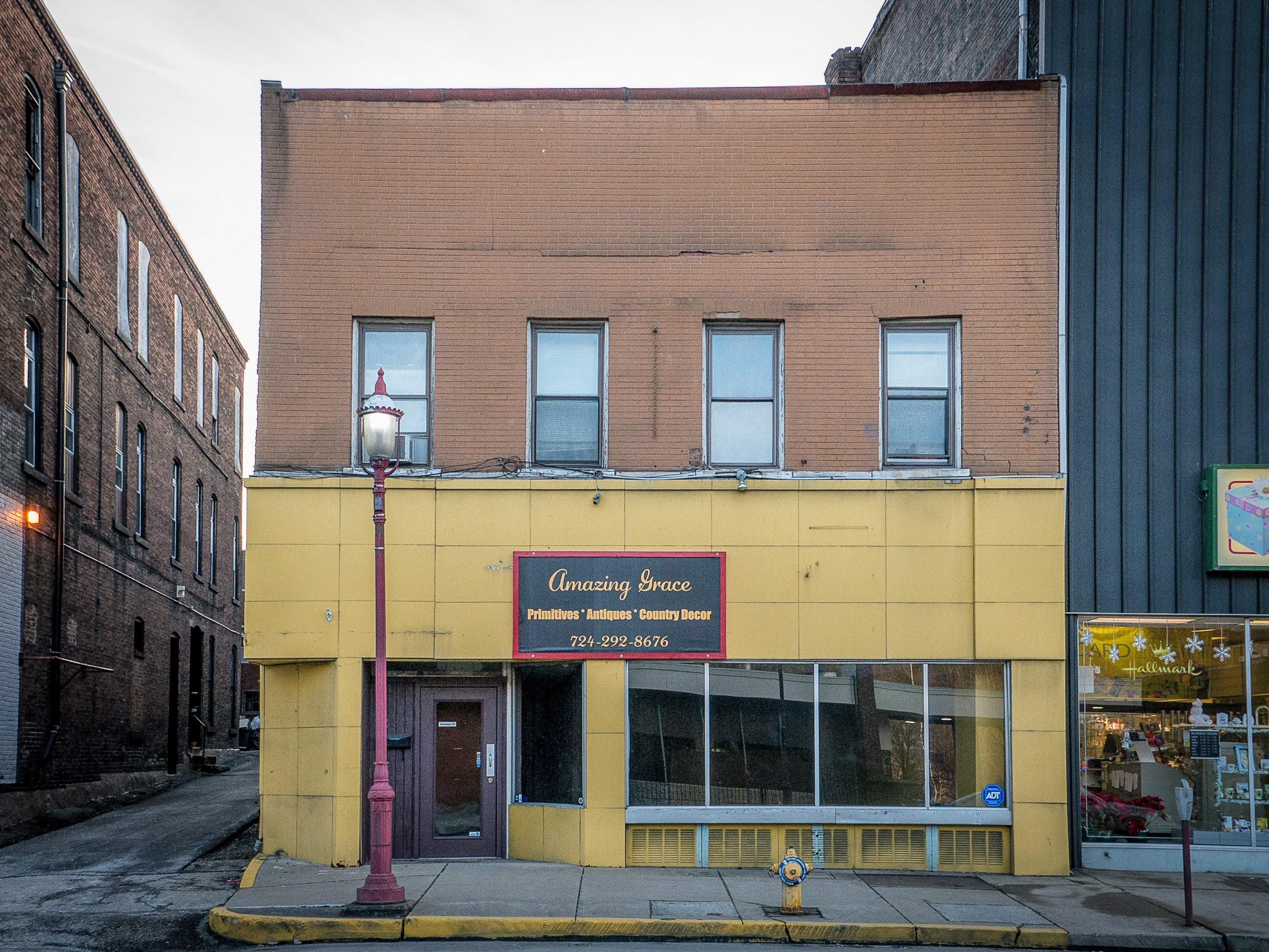 Photo of building at 234 West Main Street, Monongahela, Pa. 15063 along rt 88 and rt 136. Photo property of the Monongahela Main Street Program.