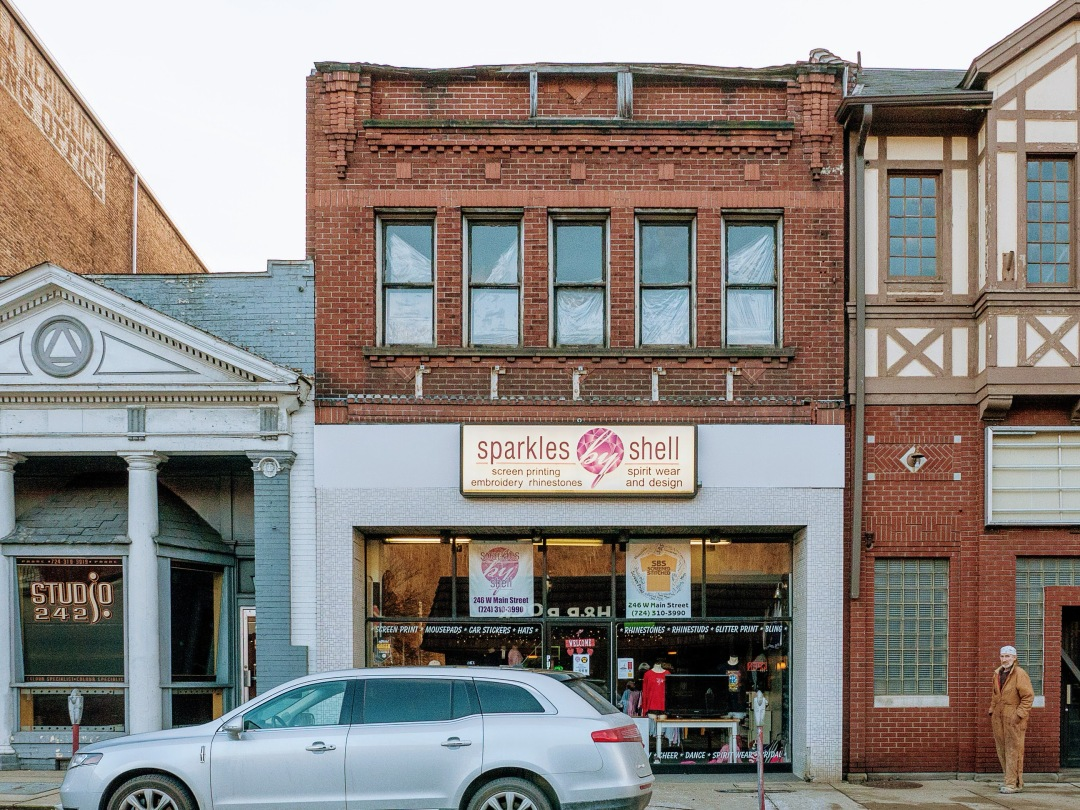 Photo of building at 246 West Main Street, Monongahela, Pa. 15063 along rt 88 and rt 136. Photo property of the Monongahela Main Street Program.