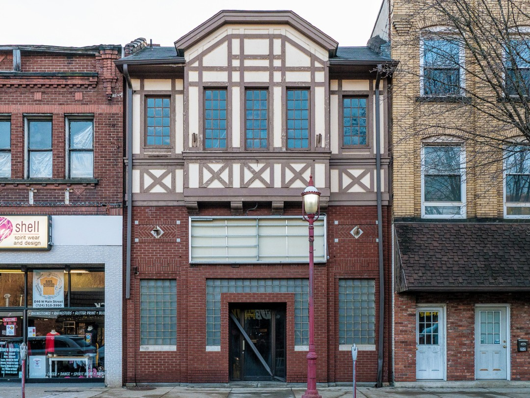 Photo of building at 248 West Main Street, Monongahela, Pa. 15063 along rt 88 and rt 136. Photo property of the Monongahela Main Street Program.