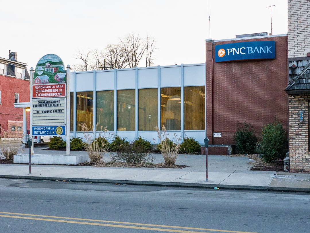 Photo of building at 300 West Main Street, Monongahela, Pa. 15063 along rt 88 and rt 136. Photo property of the Monongahela Main Street Program.