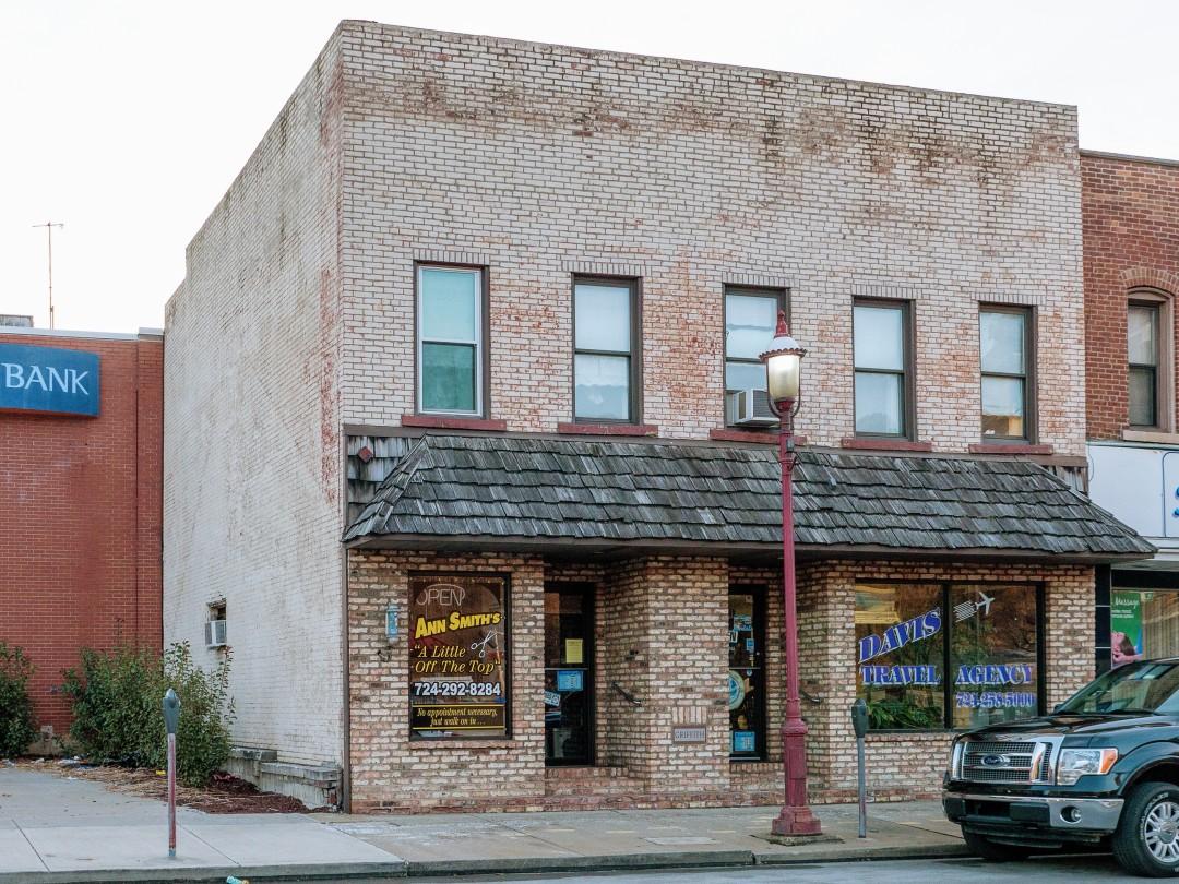Photo of building at 308 - 310 West Main Street, Monongahela, Pa. 15063 along rt 88 and rt 136. Photo property of the Monongahela Main Street Program.