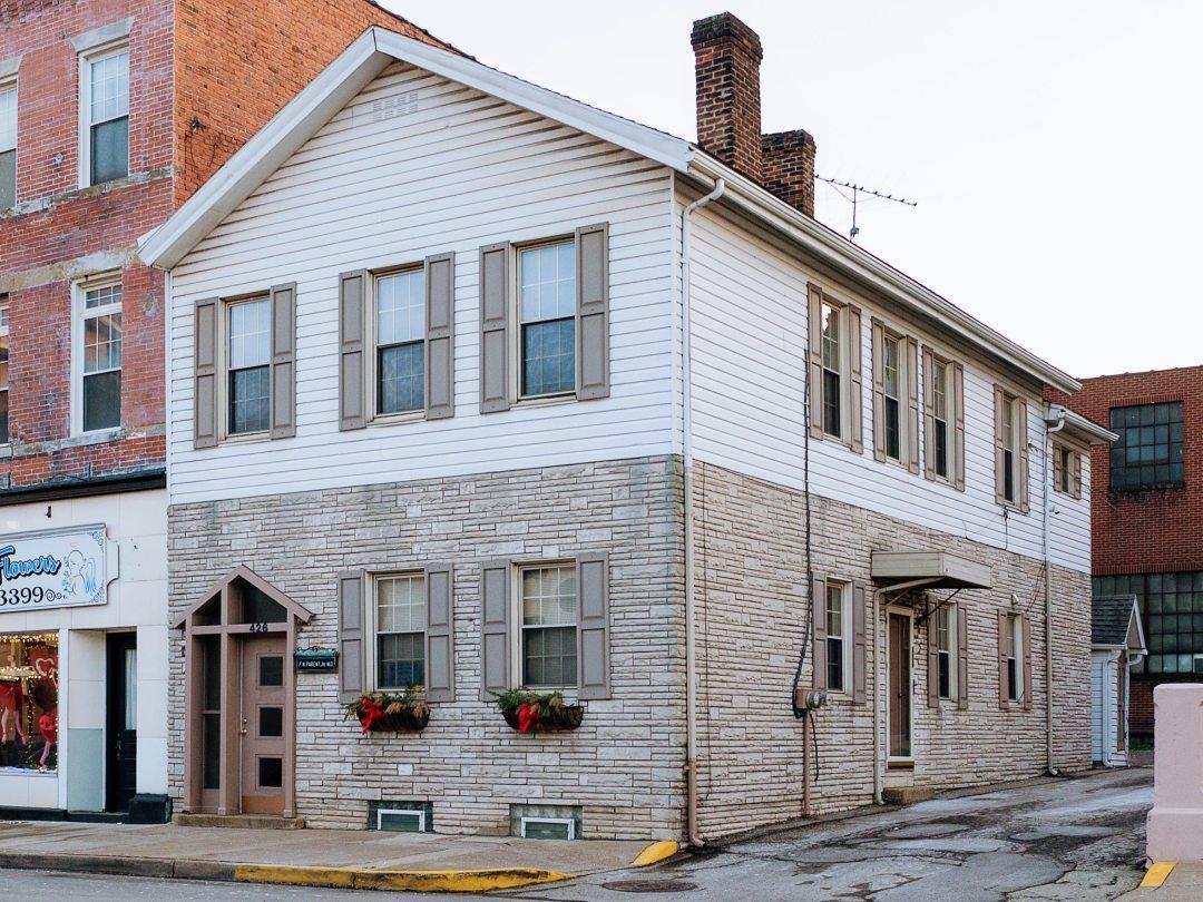 Photo of building at 426 West Main Street, Monongahela, Pa. 15063 along rt 88 and rt 136. Photo property of the Monongahela Main Street Program.